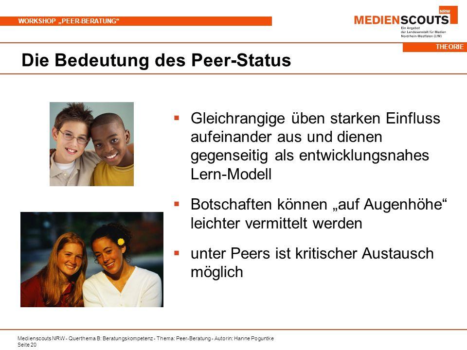 Die Bedeutung des Peer-Status