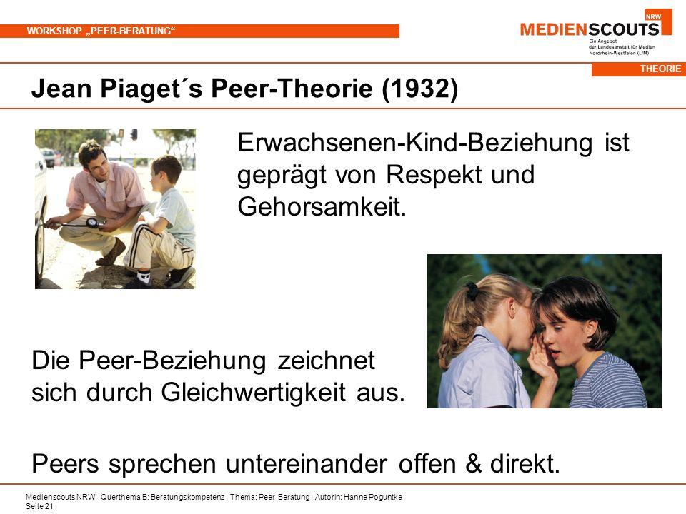 Jean Piaget´s Peer-Theorie (1932)