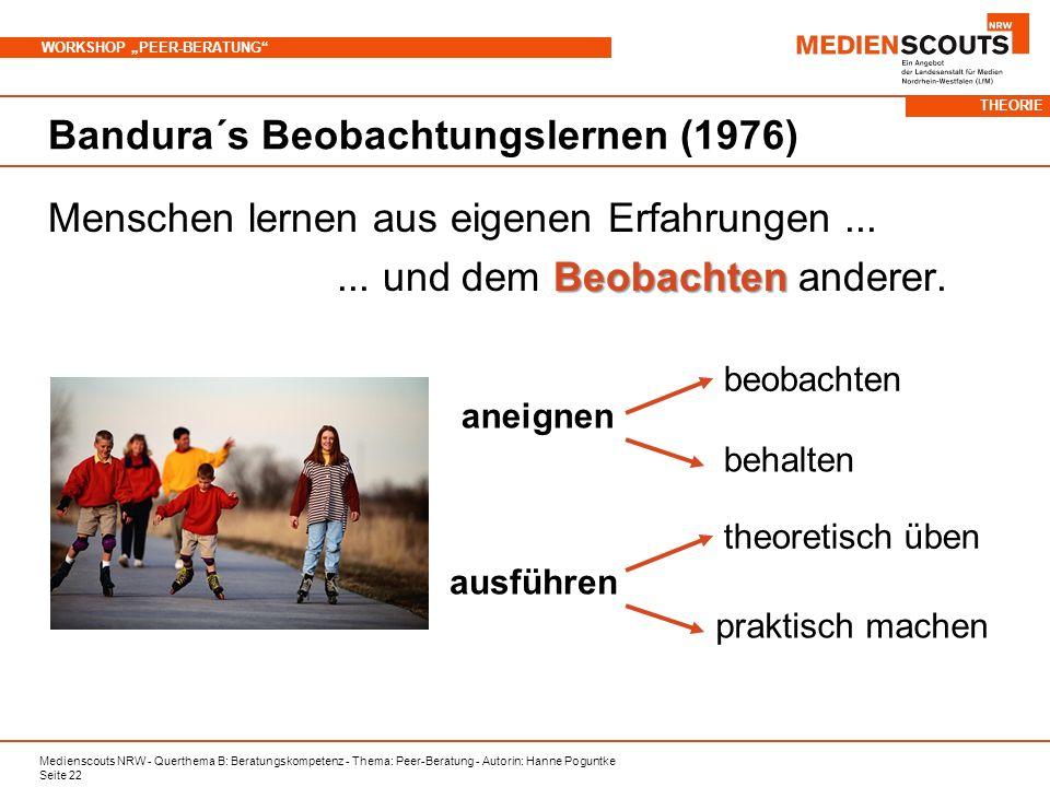 Bandura´s Beobachtungslernen (1976)