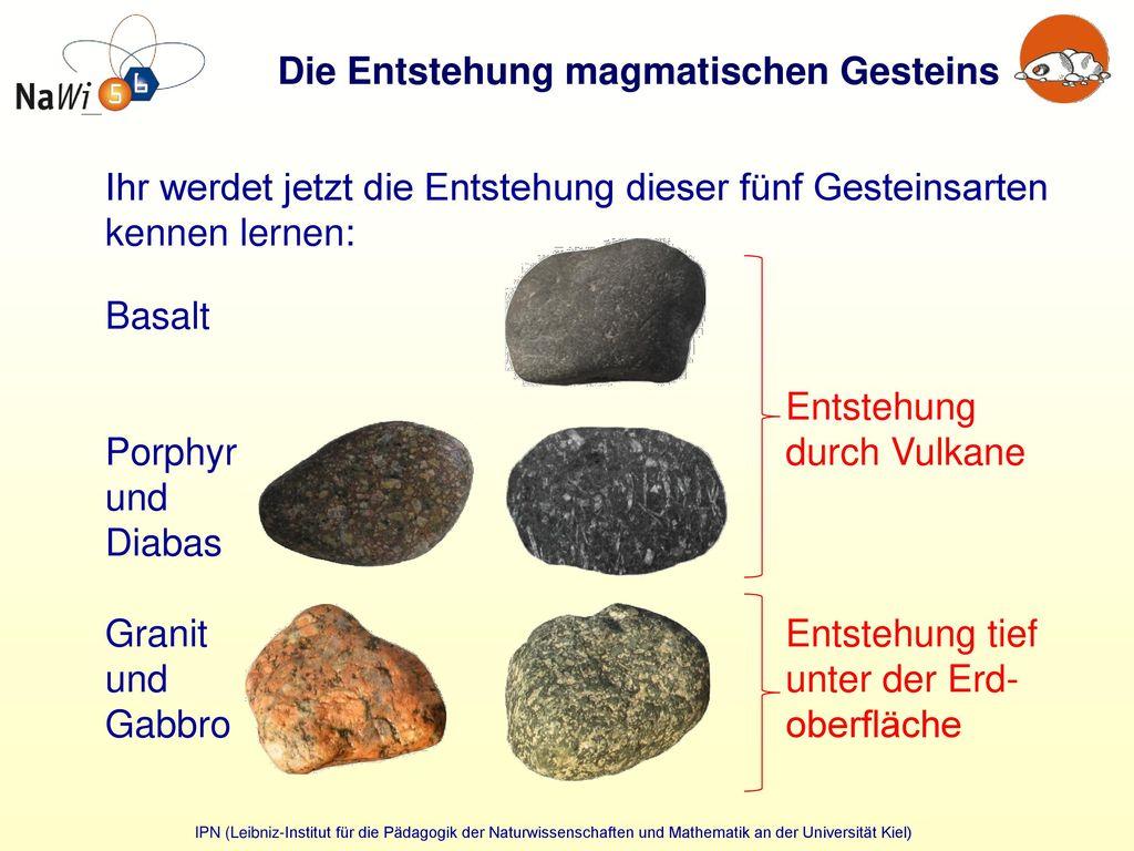 magmatische gesteine beispiele