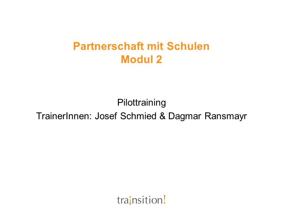 Partnerschaft mit Schulen Modul 2