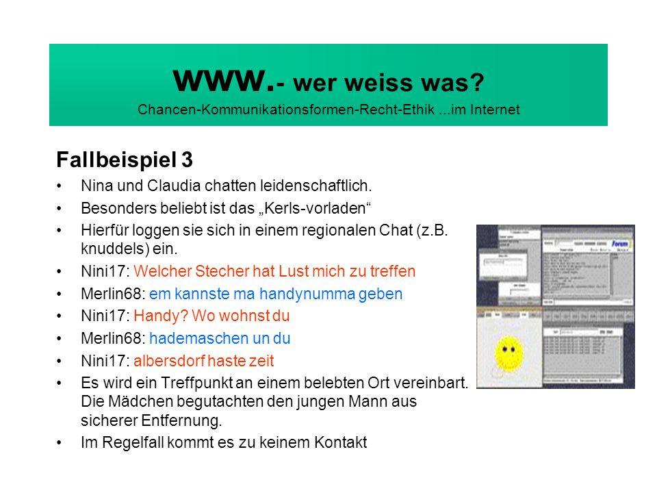 www. - wer weiss was. Chancen-Kommunikationsformen-Recht-Ethik