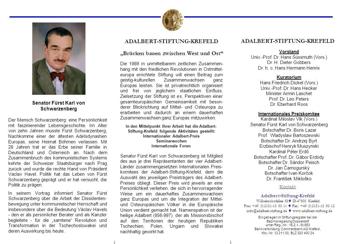 ADALBERT-STIFTUNG-KREFELD ADALBERT-STIFTUNG-KREFELD