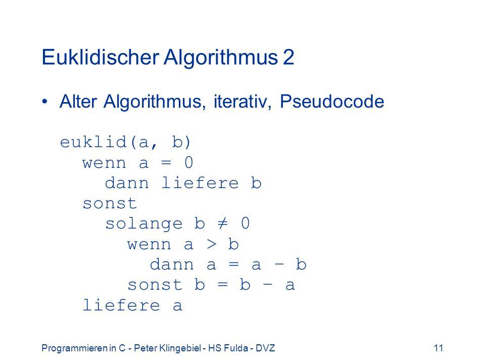 Euklidischer Algorithmus 2