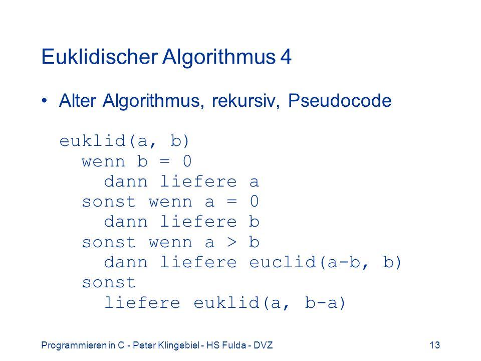 Euklidischer Algorithmus 4