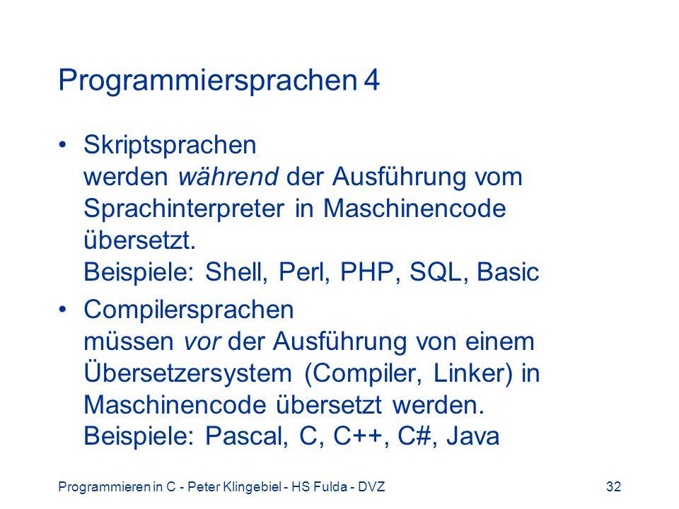 Programmiersprachen 4