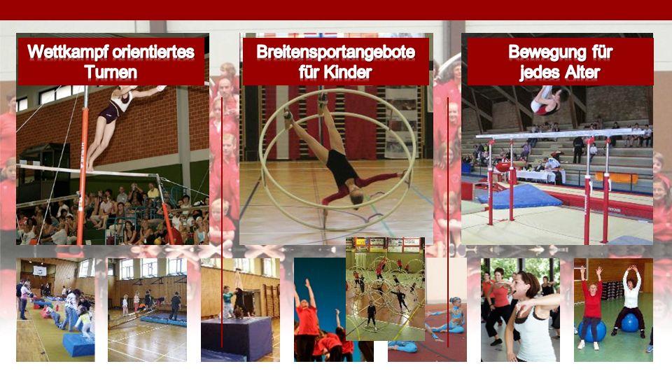 Wettkampf orientiertes Turnen Breitensportangebote für Kinder