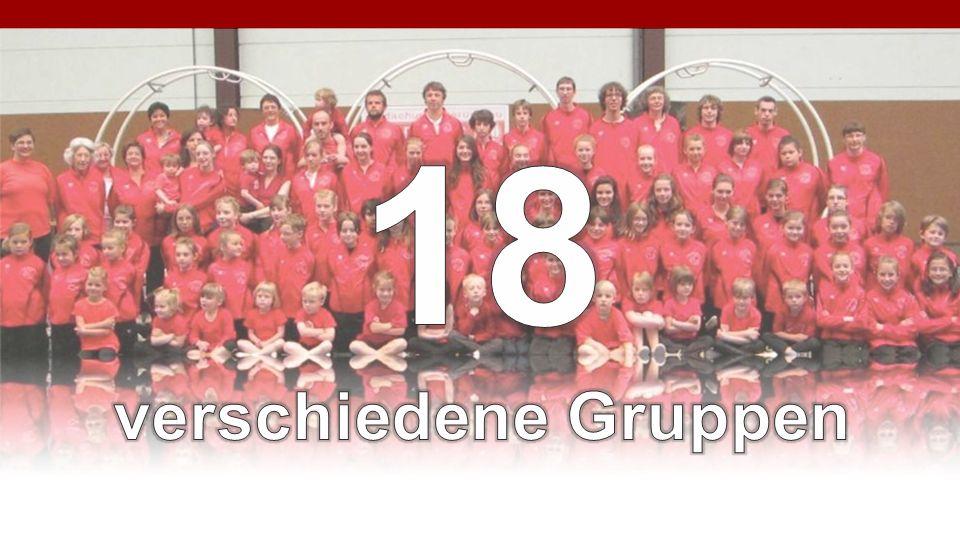 18 verschiedene Gruppen