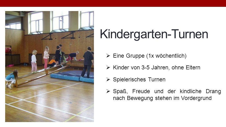 Kindergarten-Turnen Eine Gruppe (1x wöchentlich)