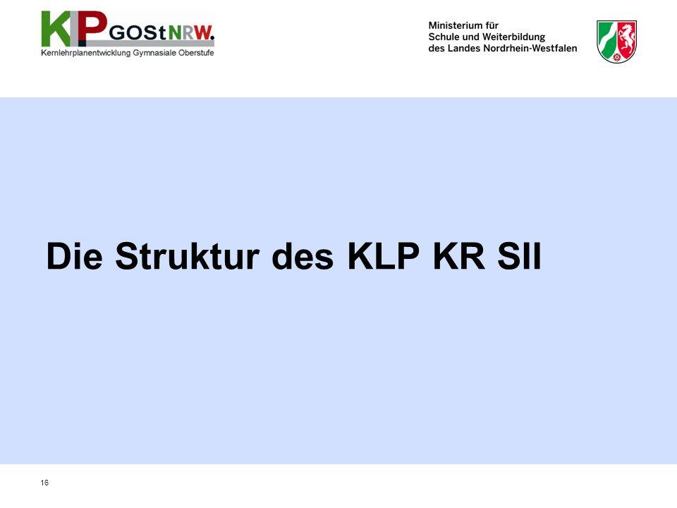 Die Struktur des KLP KR SII