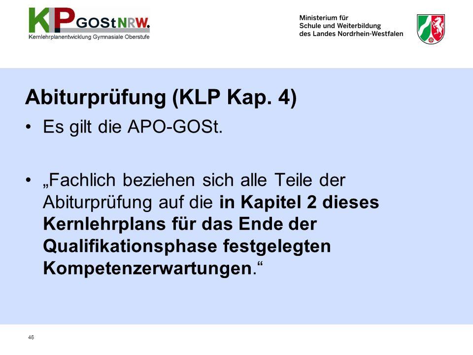 Abiturprüfung (KLP Kap. 4)
