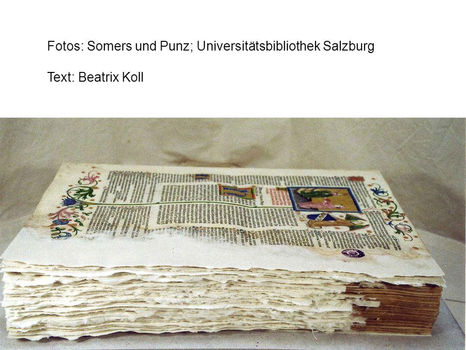 Fotos: Somers und Punz; Universitätsbibliothek Salzburg