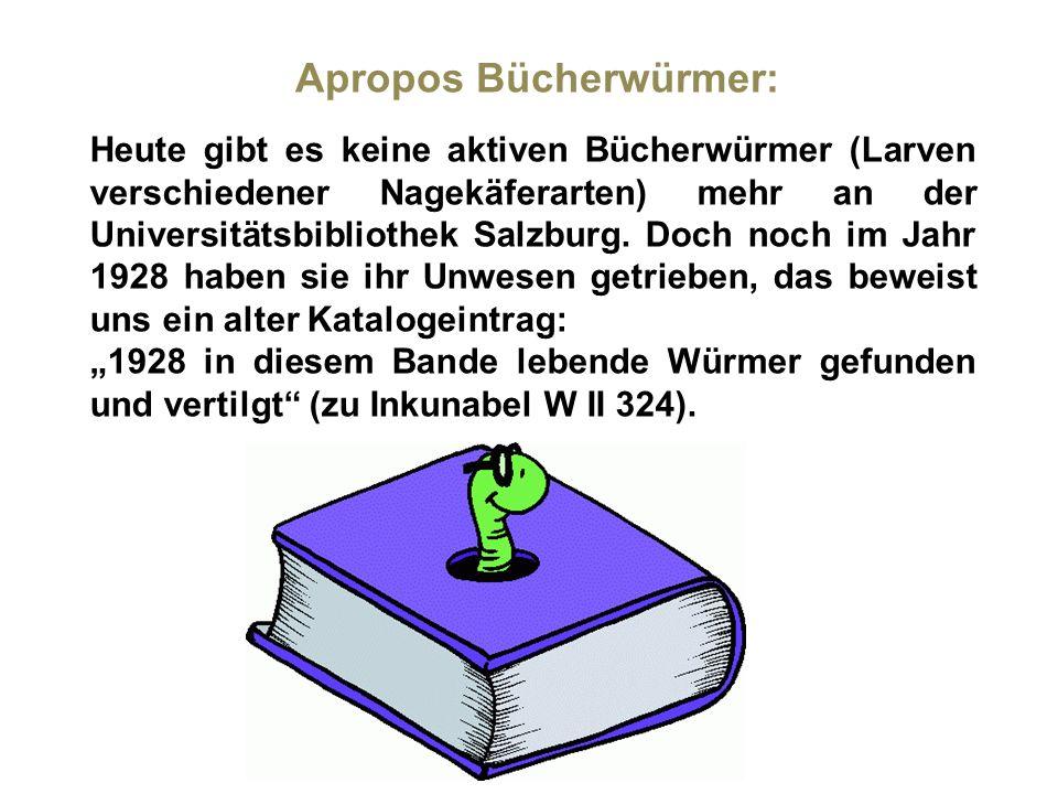 Apropos Bücherwürmer: