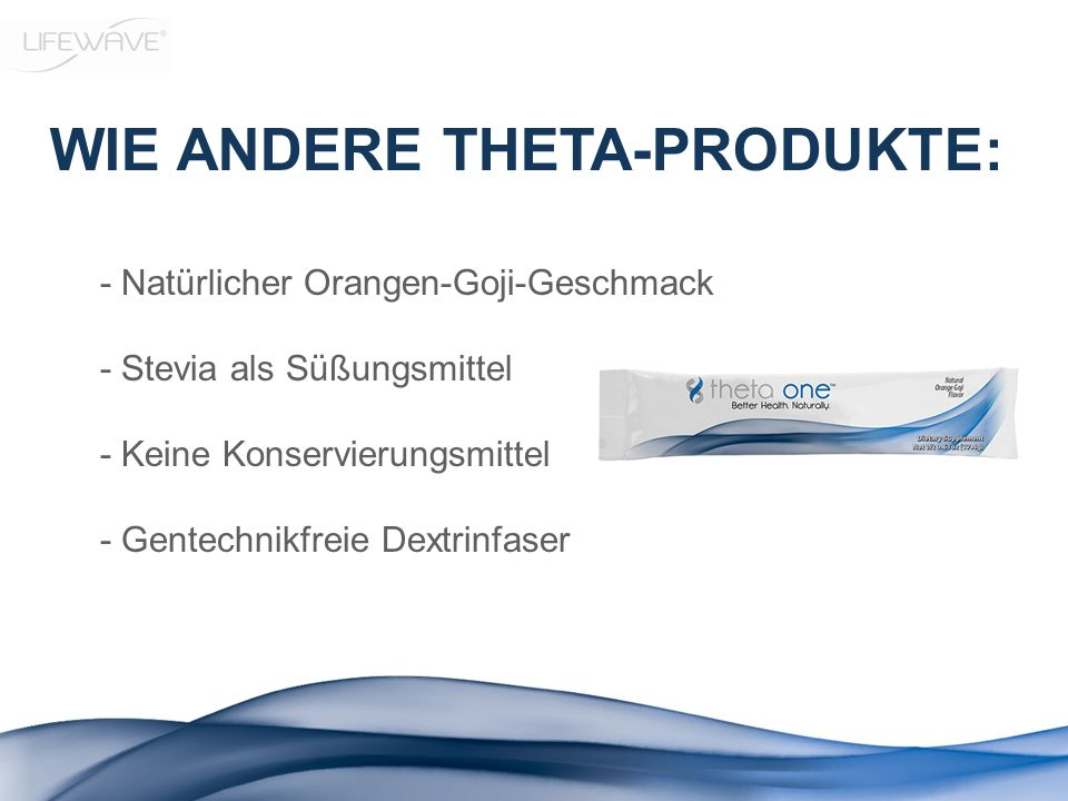 WIE ANDERE THETA-PRODUKTE: