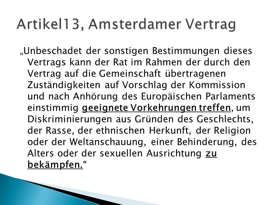 Artikel13, Amsterdamer Vertrag