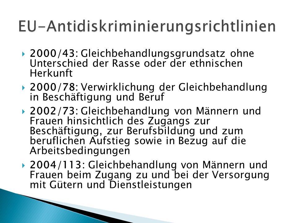 EU-Antidiskriminierungsrichtlinien