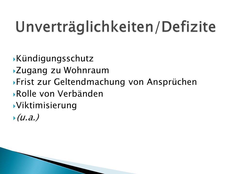 Unverträglichkeiten/Defizite