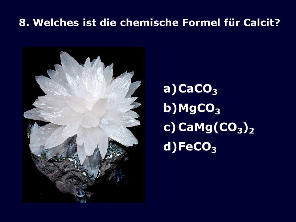CaCO3 MgCO3 CaMg(CO3)2 FeCO3