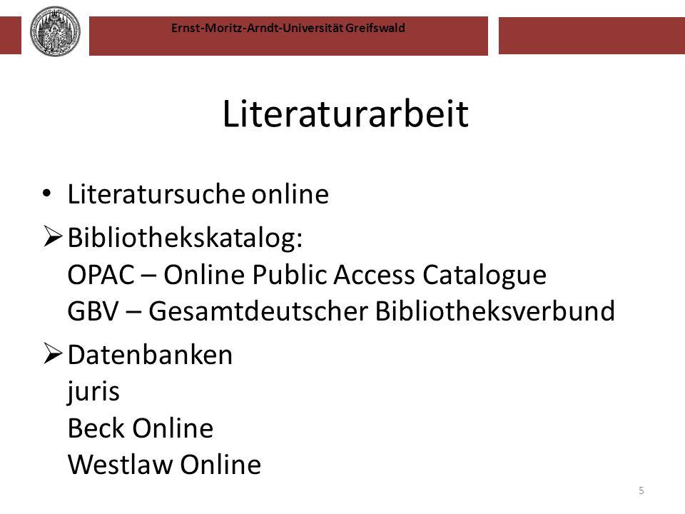 Literaturarbeit Literatursuche online