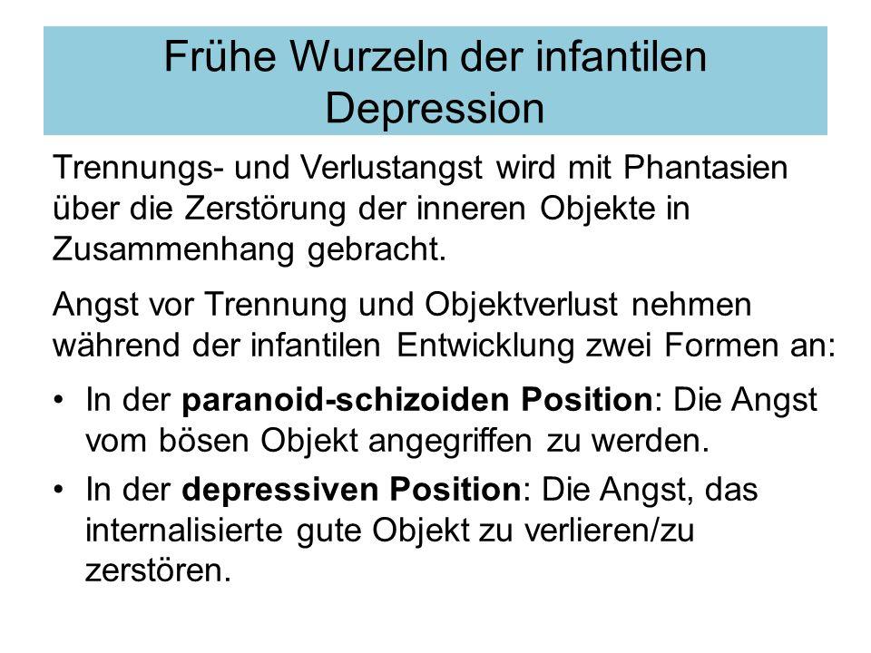 Frühe Wurzeln der infantilen Depression