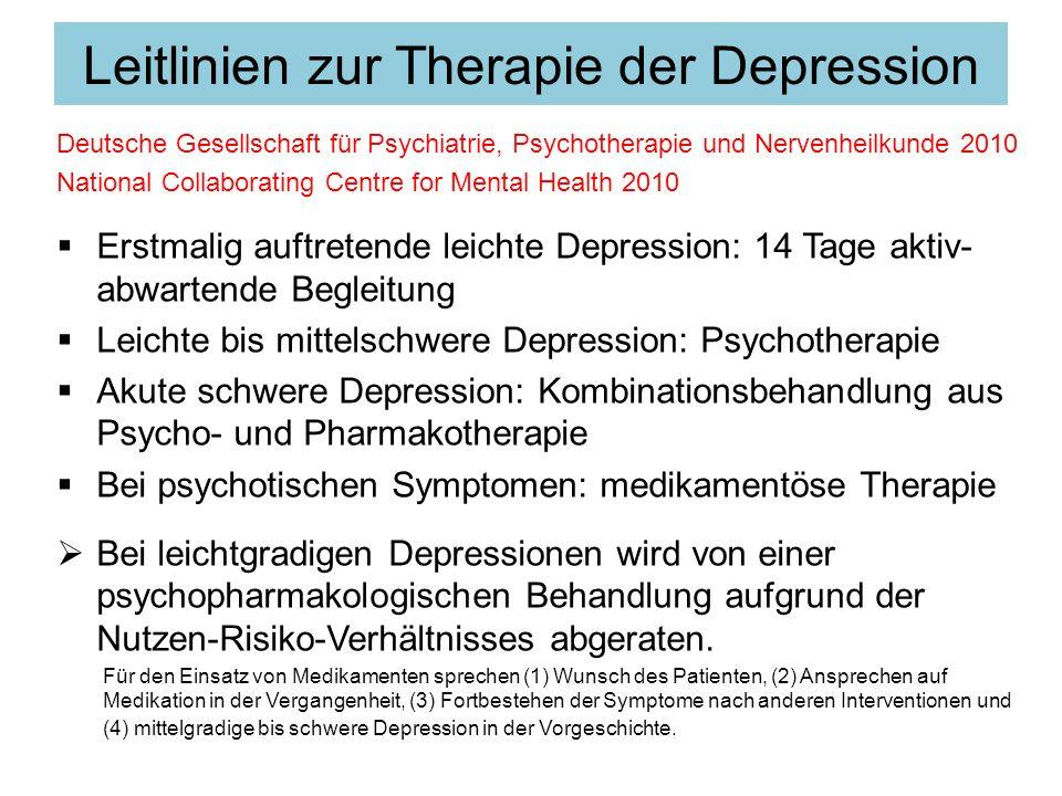 Leitlinien zur Therapie der Depression