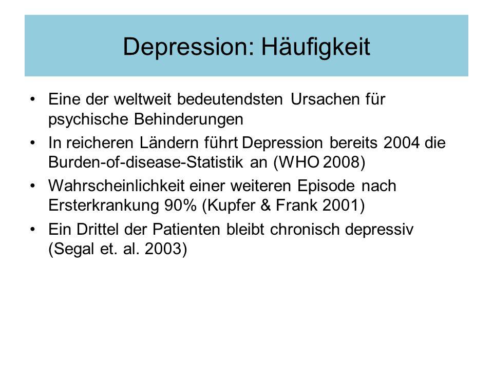 Depression: Häufigkeit