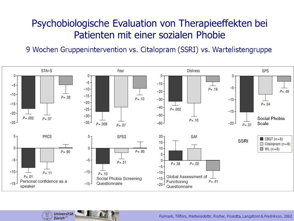 Psychobiologische Evaluation von Therapieeffekten bei
