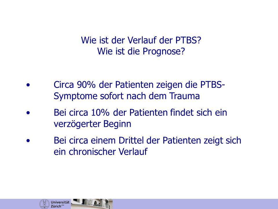 Wie ist der Verlauf der PTBS