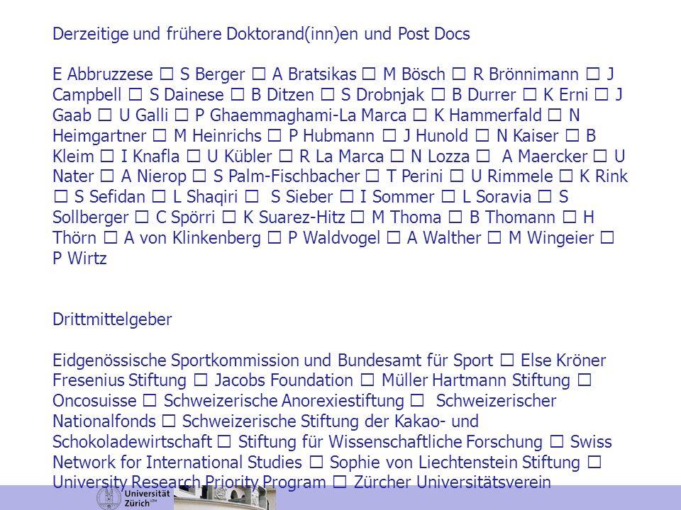 Derzeitige und frühere Doktorand(inn)en und Post Docs