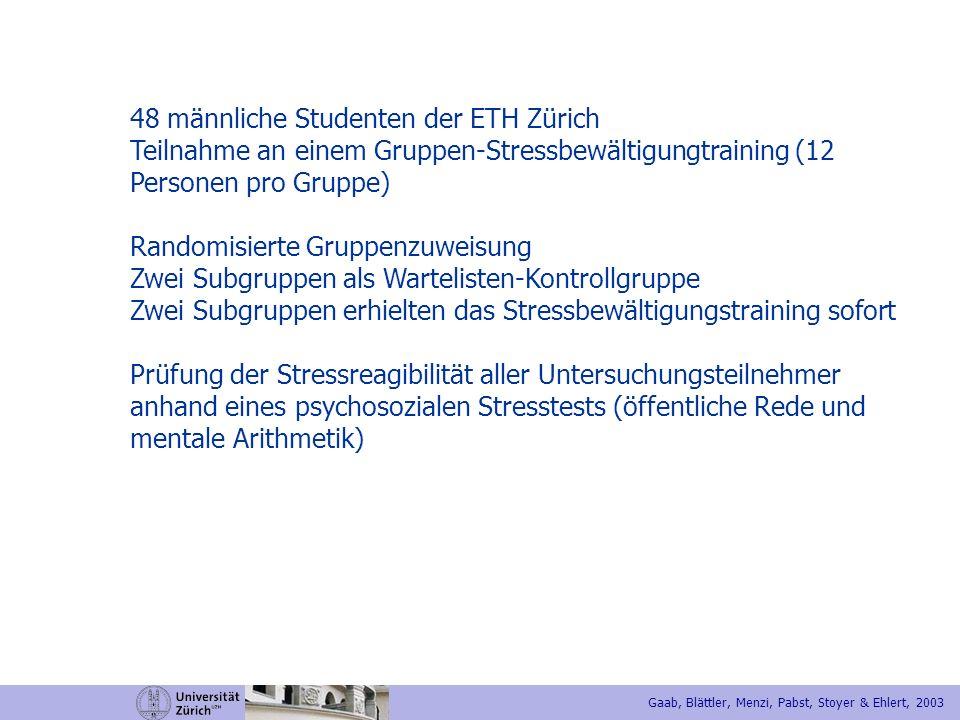 48 männliche Studenten der ETH Zürich