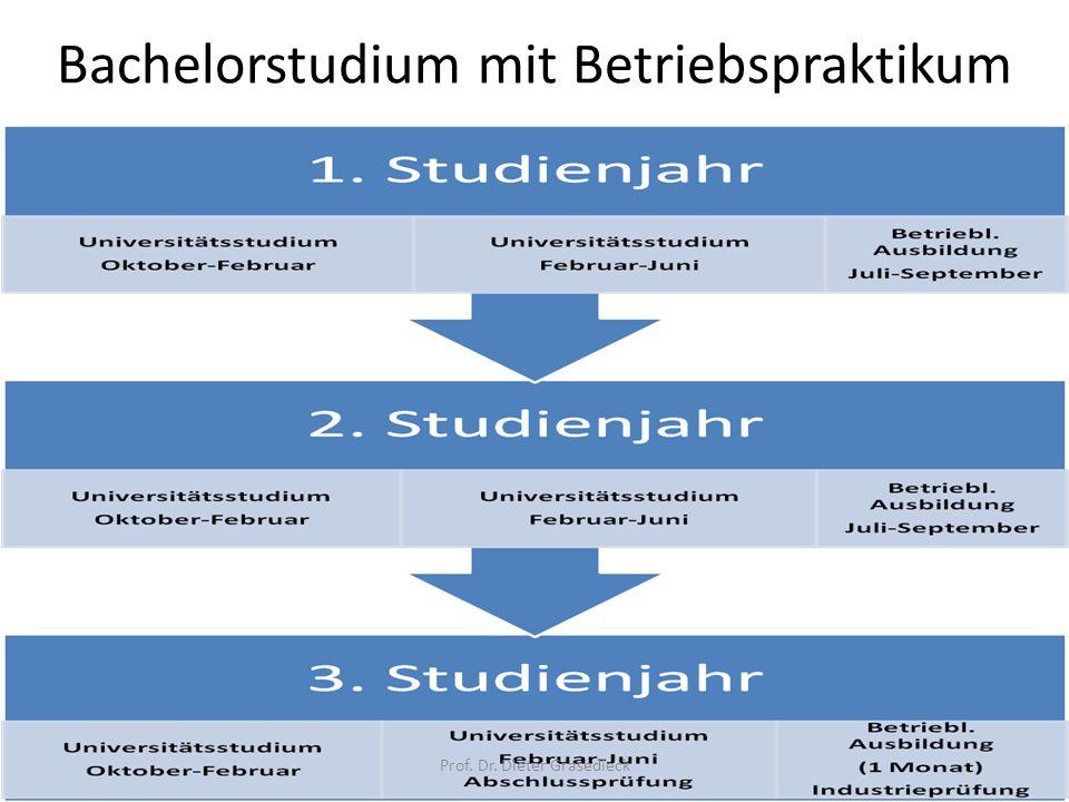 Bachelorstudium mit Betriebspraktikum
