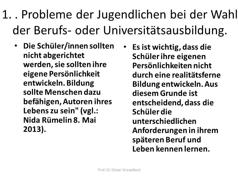 Prof. Dr. Dieter Grasedieck