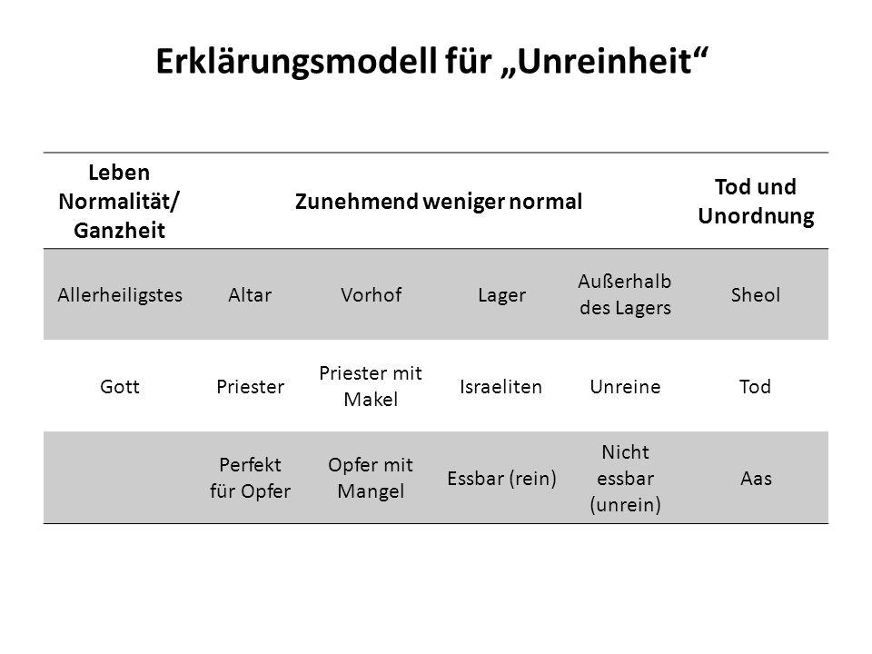 """Erklärungsmodell für """"Unreinheit"""