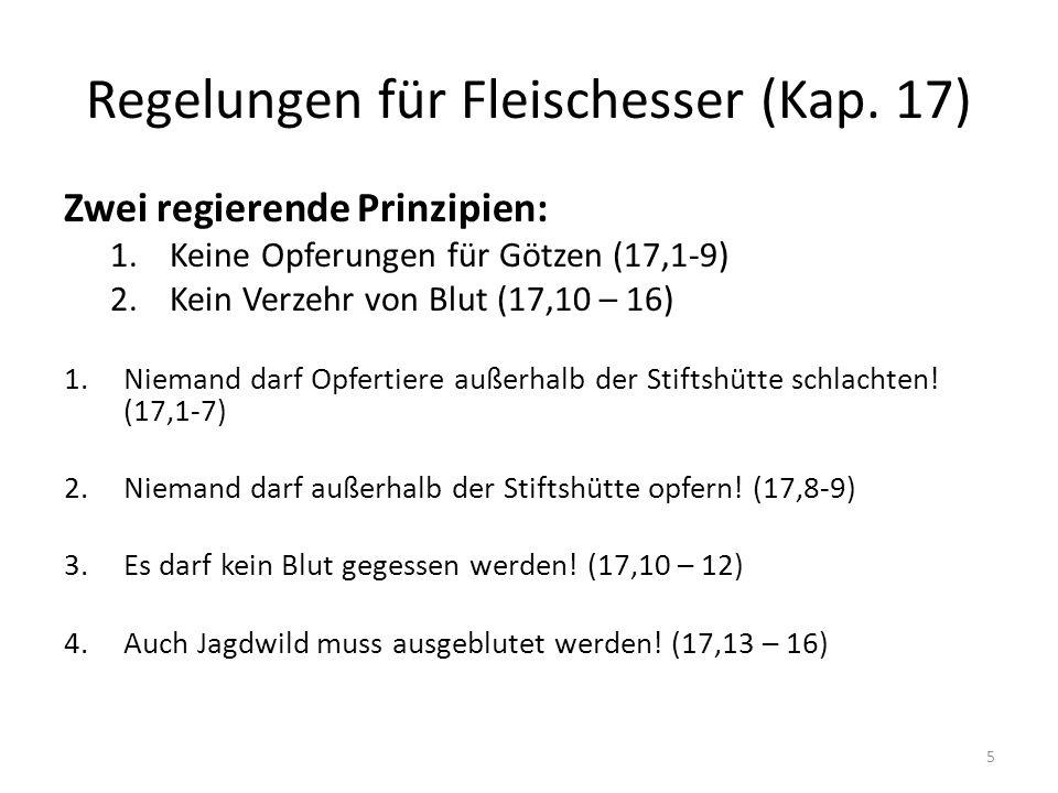 Regelungen für Fleischesser (Kap. 17)