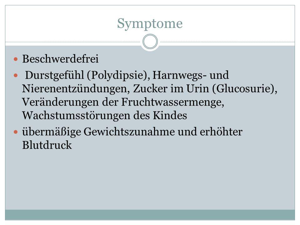 Symptome Beschwerdefrei