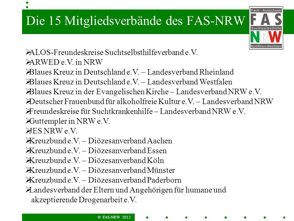 Die 15 Mitgliedsverbände des FAS-NRW