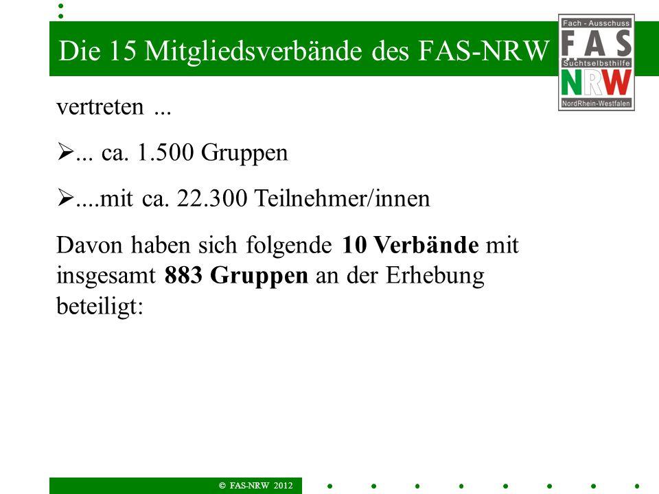 Die 15 Mitgliedsverbände des FAS-NRW ...