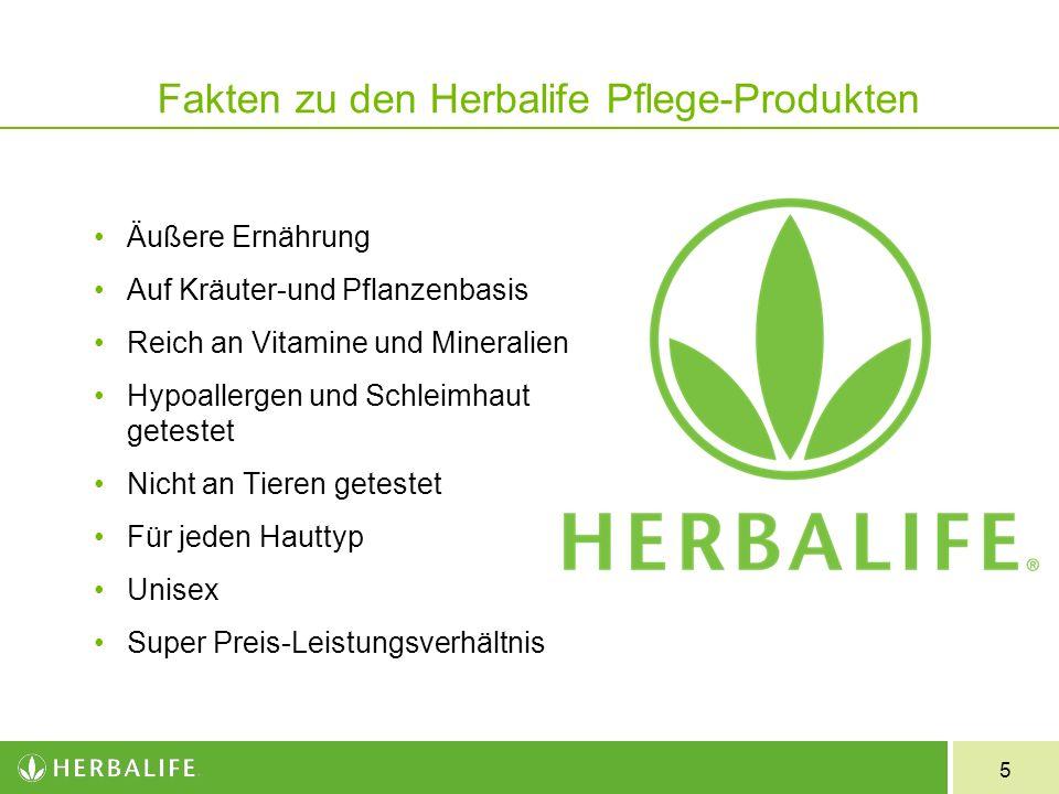 Fakten zu den Herbalife Pflege-Produkten
