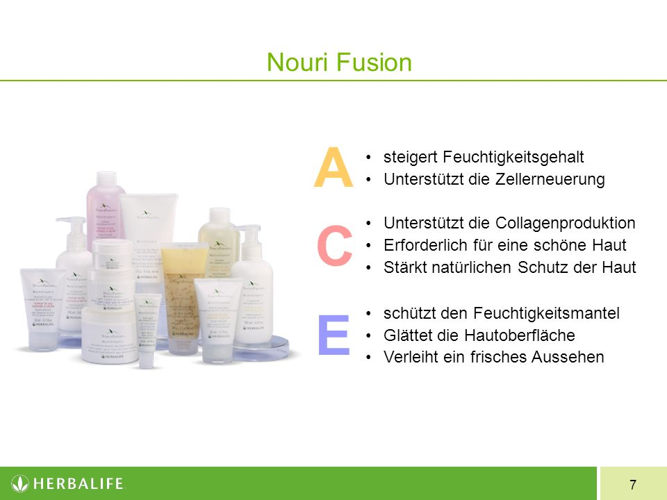 A C E Nouri Fusion steigert Feuchtigkeitsgehalt