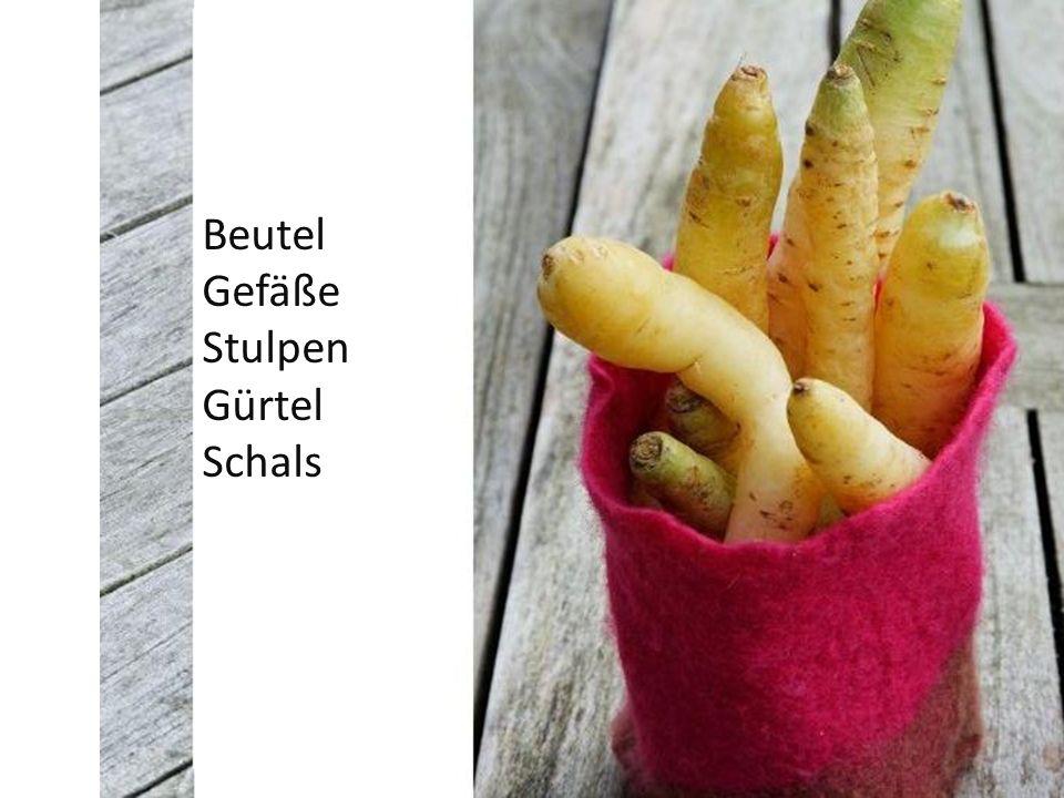 Beutel Gefäße Stulpen Gürtel Schals