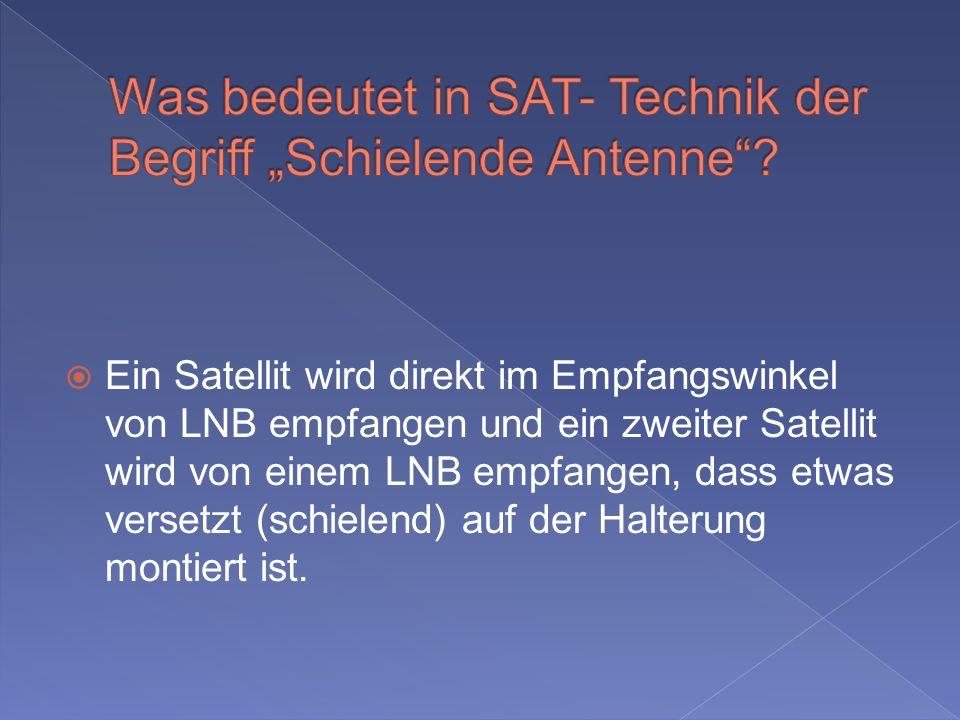 """Was bedeutet in SAT- Technik der Begriff """"Schielende Antenne"""