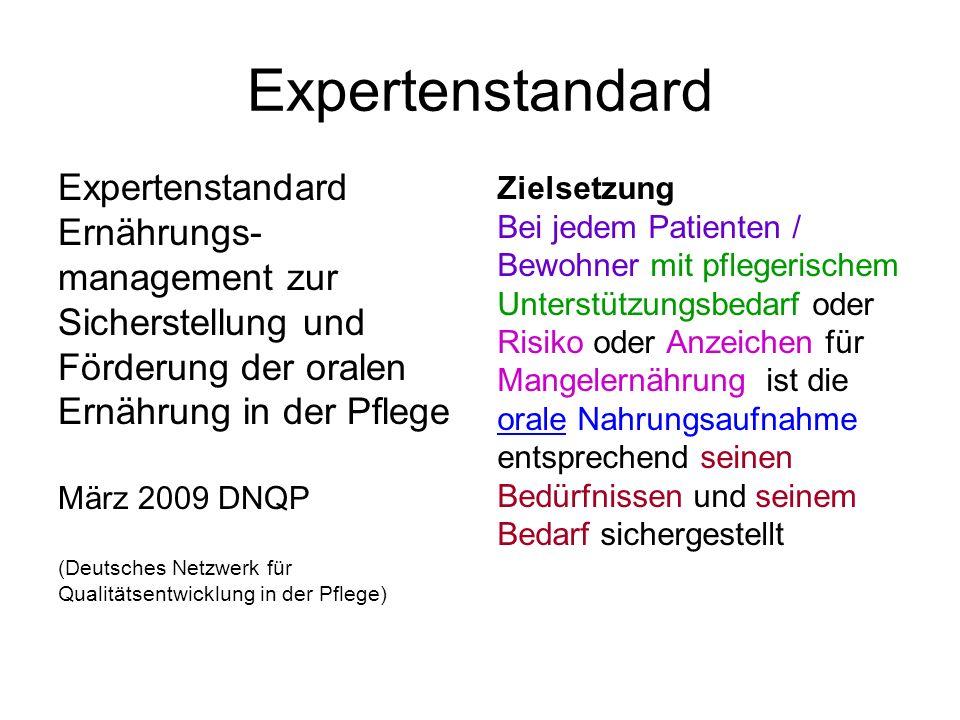 Expertenstandard Expertenstandard Ernährungs- management zur