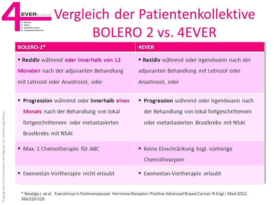 Vergleich der Patientenkollektive BOLERO 2 vs. 4EVER