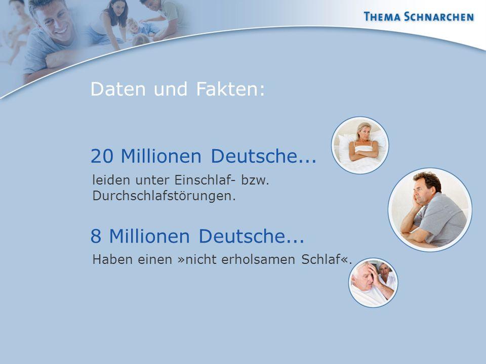 Daten und Fakten: 20 Millionen Deutsche... 8 Millionen Deutsche...