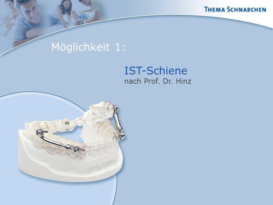 Möglichkeit 1: IST-Schiene nach Prof. Dr. Hinz