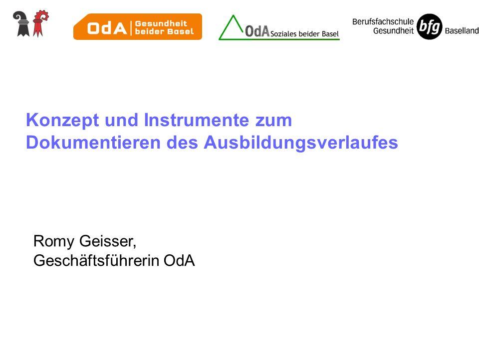 Konzept und Instrumente zum Dokumentieren des Ausbildungsverlaufes