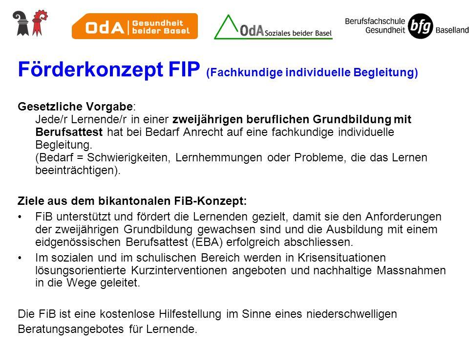 Förderkonzept FIP (Fachkundige individuelle Begleitung)