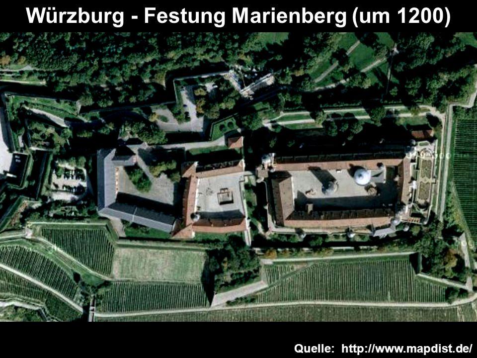 Würzburg - Festung Marienberg (um 1200)