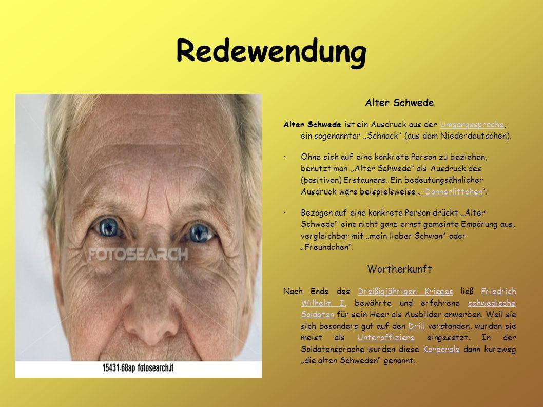 Redewendung Alter Schwede Wortherkunft