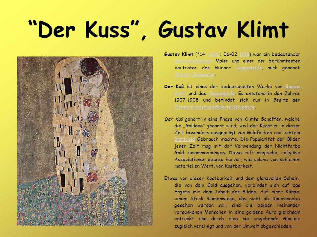 Der Kuss , Gustav Klimt